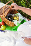 Enjoyng lunch, picnic outdoors Royalty Free Stock Photography
