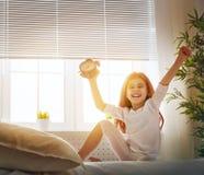 Enjoys sunny morning Stock Image