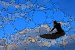 Enkel abstrakt surfarekontur arkivfoto