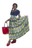 Enkel afrikansk kvinnastående royaltyfri foto