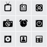 Apps symbolsuppsättning Royaltyfria Foton