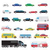 Enkel auto symbolsuppsättning Arkivbild