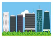 Enkel bakgrund för hög byggnad Royaltyfri Illustrationer