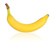 enkel banan Arkivbilder