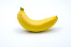 Enkel banan som isoleras på vit bakgrund royaltyfria foton