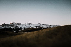 Enkel bergplats Arkivbilder