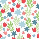 Enkel blom- bakgrund stock illustrationer