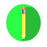 Enkel blyertspennasymbol, Royaltyfria Bilder