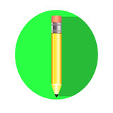 Enkel blyertspennasymbol, Vektor Illustrationer