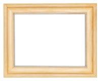 Enkel bred träbildram royaltyfria foton