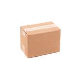 Enkel brun lådaask Arkivfoto