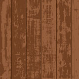 Enkel brun Wood plankavektor royaltyfri illustrationer