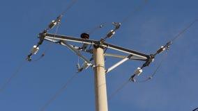 Enkel cementbetong Pole för elektriska branscher Royaltyfria Foton