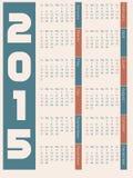 Enkel design för 2015 kalender Arkivbild