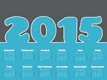 Enkel design för 2015 kalender Royaltyfri Foto