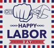 Enkel design för tappning för affisch Amerika för arbets- dag vektor illustrationer