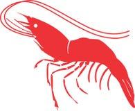 Enkel design Logo Vector för räkatecken stock illustrationer