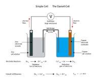 Enkel electrochemical eller galvanisk cell Den Daniell cellen Royaltyfria Bilder