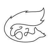 Enkel en linje logo Fotografering för Bildbyråer