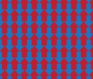 Enkel färgrik pilmodellbakgrund Arkivfoto