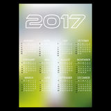 enkel för väggkalender för affär 2017 bakgrund eps10 för färg för suddighet för abstrakt begrepp Arkivfoton