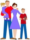 enkel familj Royaltyfria Bilder