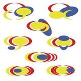 enkel fastställd abstrakt logo - vektor illustrationer
