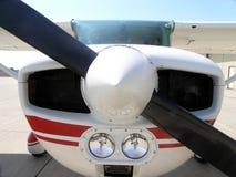 enkel flygplanmotor Fotografering för Bildbyråer