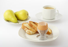 enkel frukost royaltyfri bild