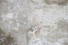 Enkel gammal grungy texturbakgrund, grått betongväggfragment Arkivfoto