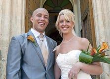 Enkel gehuwde bruid en Bruidegom stock foto