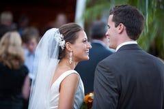 Enkel gehuwde bruid en bruidegom Stock Afbeeldingen