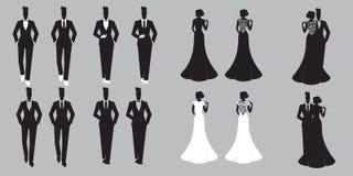 Enkel Gehuwde huwelijks Vastgestelde kaart - Royalty-vrije Stock Afbeelding