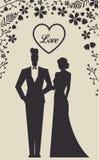 Enkel Gehuwde huwelijks Vastgestelde kaart - Royalty-vrije Stock Foto's