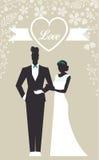 Enkel Gehuwde huwelijks Vastgestelde kaart - Stock Afbeelding