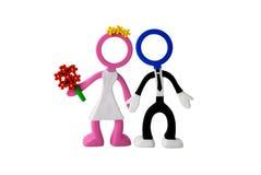 Enkel-gehuwde paarpoppen Royalty-vrije Stock Afbeelding