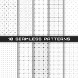 Enkel geometrisk bakgrund Abstrakt monokrom sömlös modell med linjer Bakgrund i tekniskt avancerad stil royaltyfri illustrationer