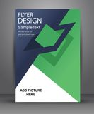 Enkel geometrisk reklamblad för din affär och advertizing Arkivbilder