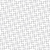 Enkel geometrisk vektormodell - gråa kors Fotografering för Bildbyråer