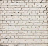 Enkel grå tegelstenvägg med mortel som är användbar som textur Royaltyfri Foto