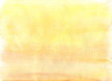 Enkel gul vattenfärgbakgrund Royaltyfria Bilder