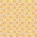 Enkel gullig modell i abstrakta blommor Ditsy tryck blom- seamless för bakgrund Modetryck Arkivfoto