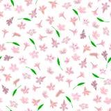 Enkel gullig modell i småskaliga rosa blommor vektor illustrationer