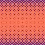 Enkel halvton rundad fyrkantig modellbakgrund - vektordesign med diagonala fyrkanter Arkivfoton