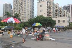 Enkel havs- marknad i Shekou fiskeport av Shenzhenï ¼ŒChinaï ¼ ŒAsia Arkivbilder