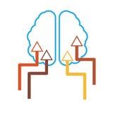 Enkel hjärnsymbol Vektor Illustrationer