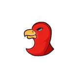 Enkel icom för fågel med röd färg Arkivfoton