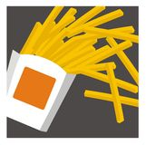 Enkel illustration för pommes frites Stock Illustrationer