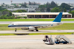 Enkel ingescheept vliegtuig Royalty-vrije Stock Foto