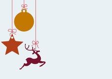 Enkel Kerstkaart stock illustratie